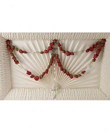 Rose Rosary For Casket - Sympathy Casket Rosary