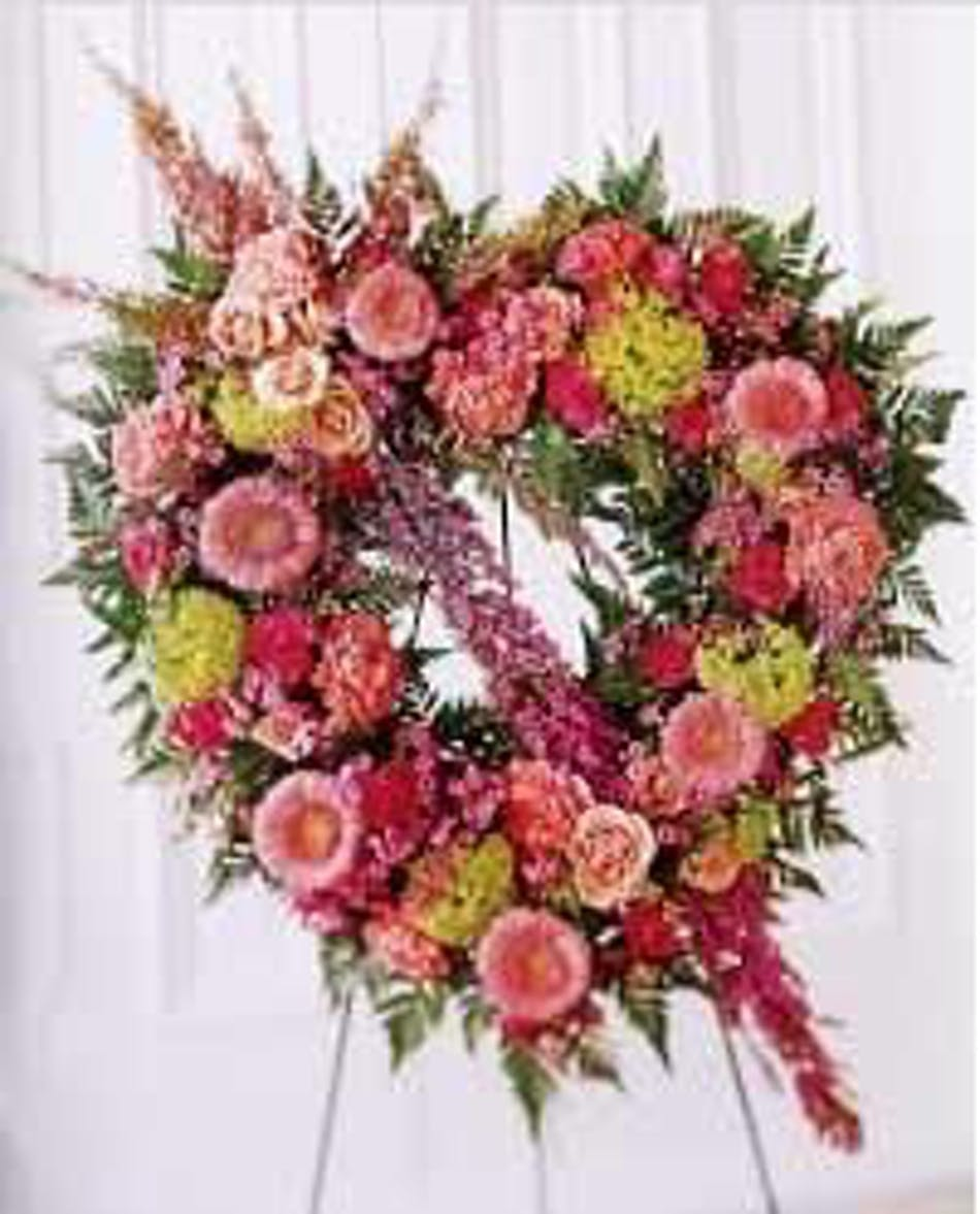 Open Pastel Heart Funeral Flowers White Plains Yonkers Ny