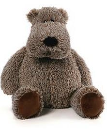 "a huggable 19"" gray teddy with a big tummy and an even bigger heart!"