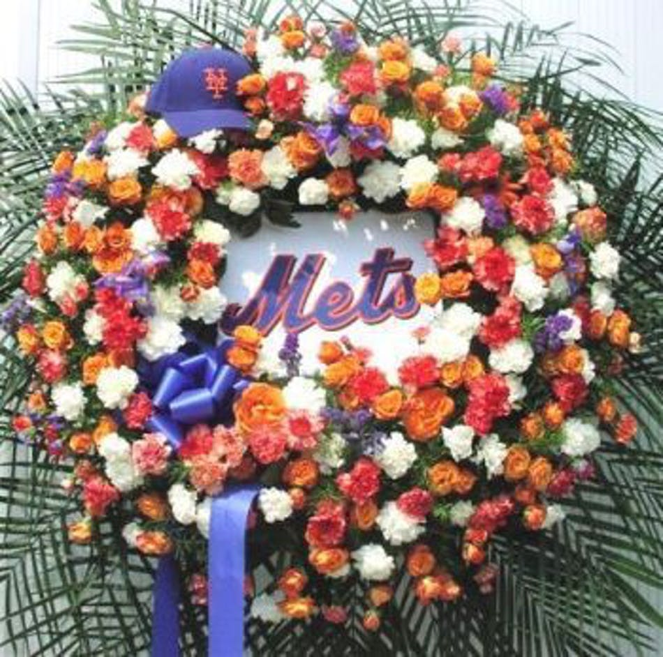 Custom sympathy pieces yonkers white plains florist ny mets wreath izmirmasajfo