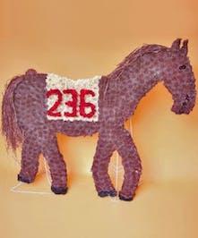 Custom designed Racing Horse funeral piece.