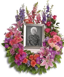 Express your devotion and memories with this wreath.