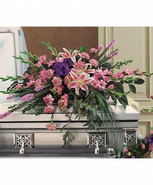 This casket spray brings eternal hope to any service.