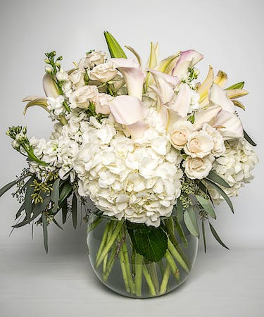 Whimsical In White Calla Lily Bouquet Delivery Blossom Flower