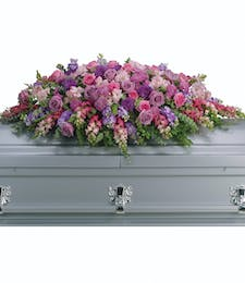 Peaceful Garden Casket Spray