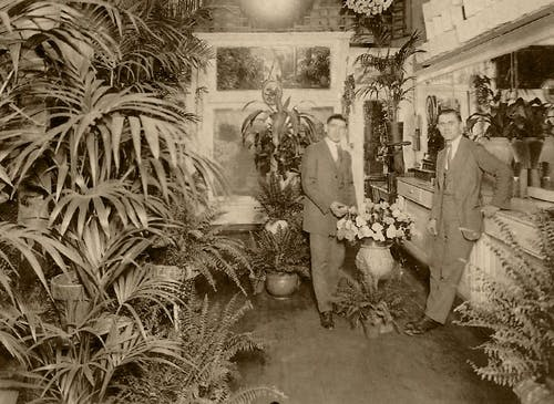 Exploring the interior of our original shop, some time in the late 1920s